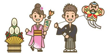 japanese new year Illustration