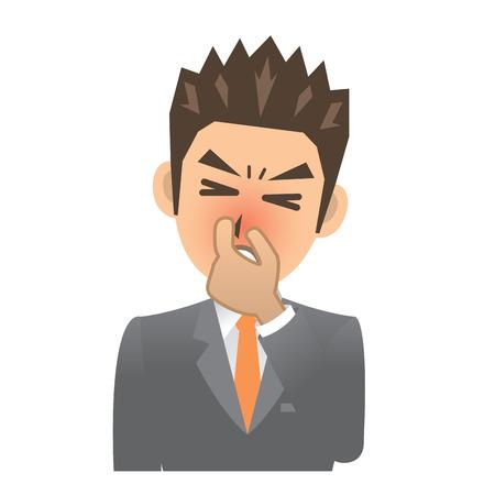 rhinitis: business man