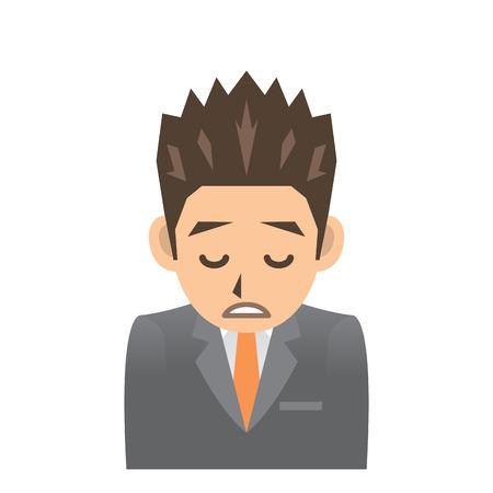 tiredness: business man