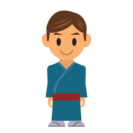 tanzen cartoon: Klassischen japanischen Tanz
