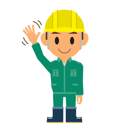 construction worker cartoon: worker