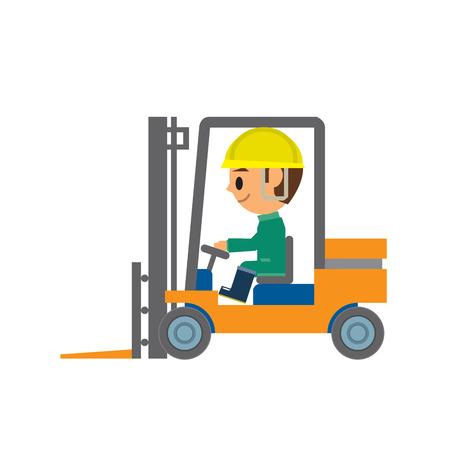 fork lifts trucks: worker