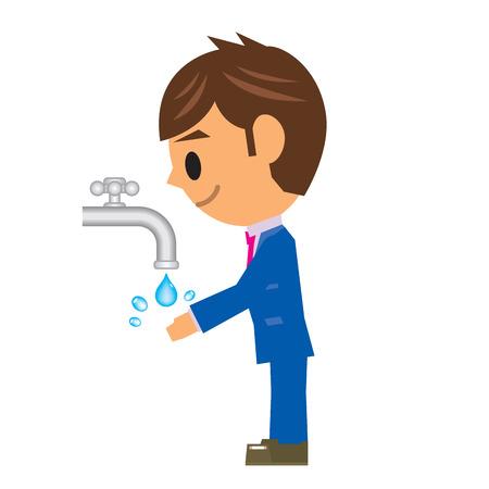 wash drawing: business man