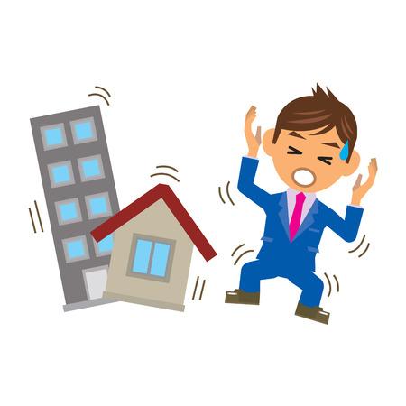 earthquakes: business man