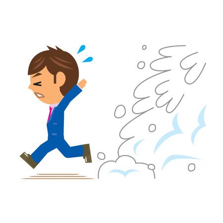 run away: business man