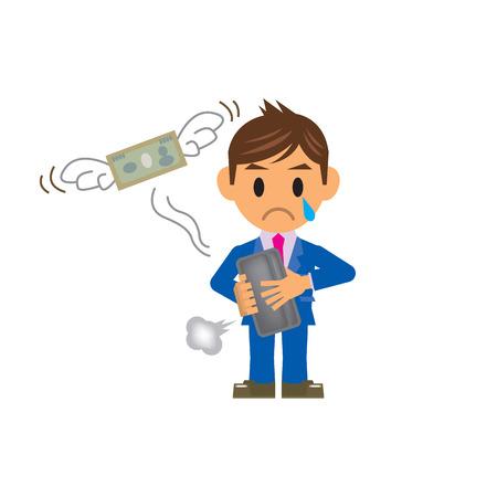 waste money: business man