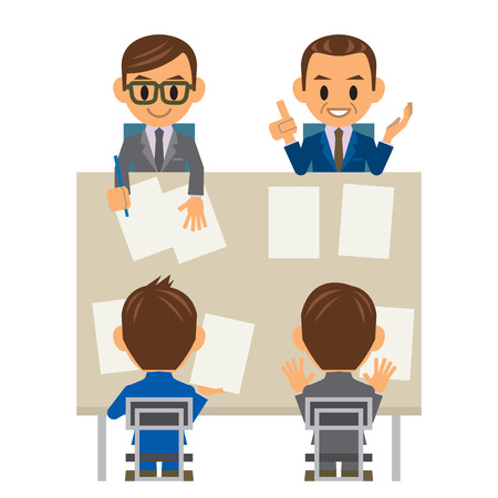 business meeting asian: gens d'affaires Illustration