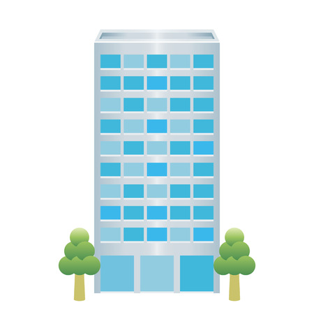 construction firm: building icon Illustration