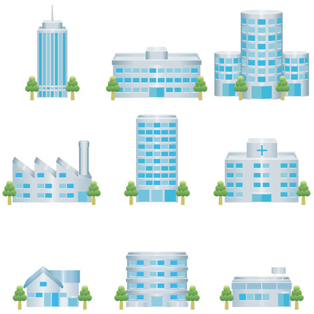 building industry: building icon Illustration