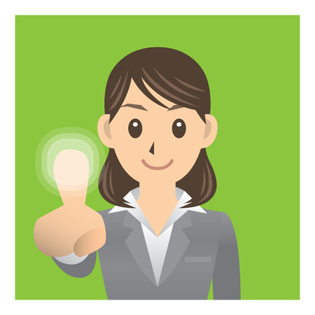 stereotype: business woman Illustration