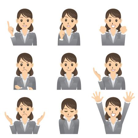 business woman 向量圖像