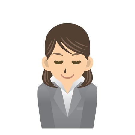 apologize: business woman Illustration