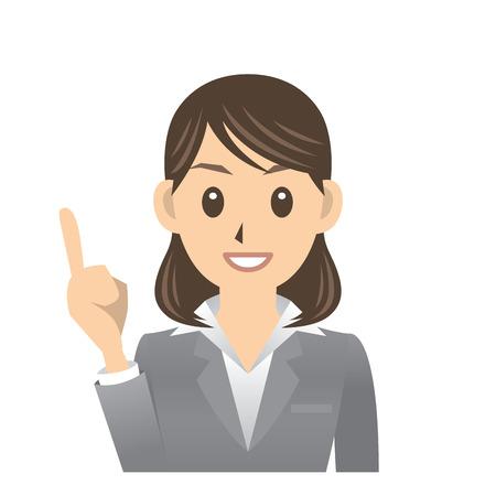 ladies bust: business woman Illustration
