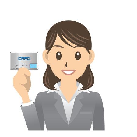 woman credit card: business woman Illustration