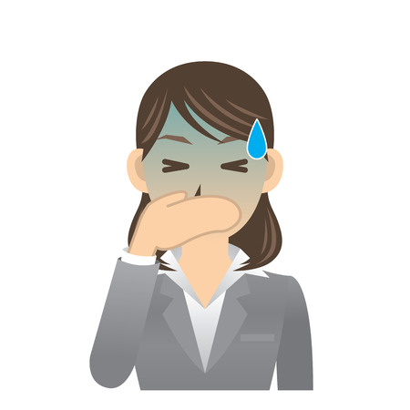 vomiting: business woman Illustration