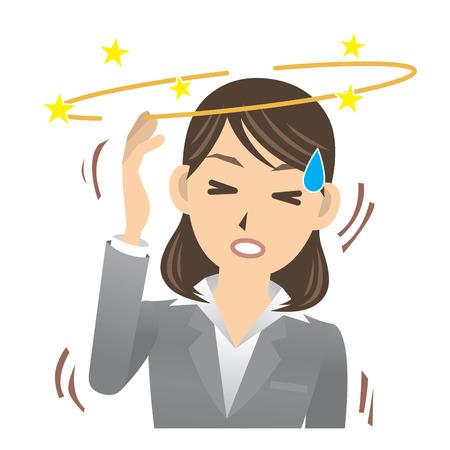 vertigo: business woman Illustration