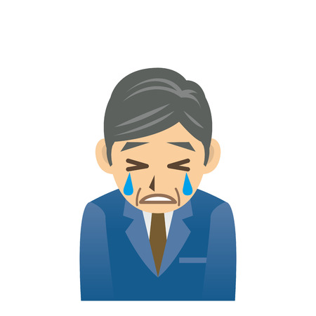 cry icon: Middle aged Business Man