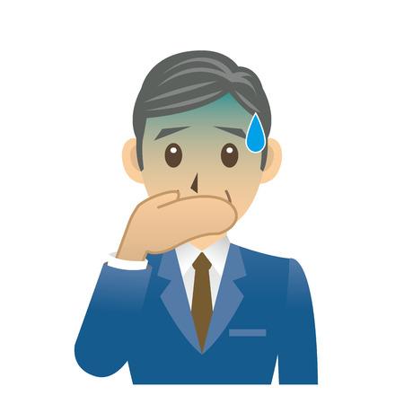 vomito: De mediana edad del hombre de negocios