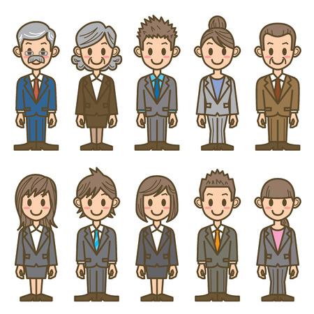 damas antiguas: gente de negocios