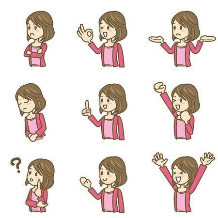 estereotipo: icono de expresión Mujer