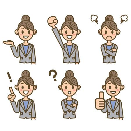 stumble: business woman Illustration