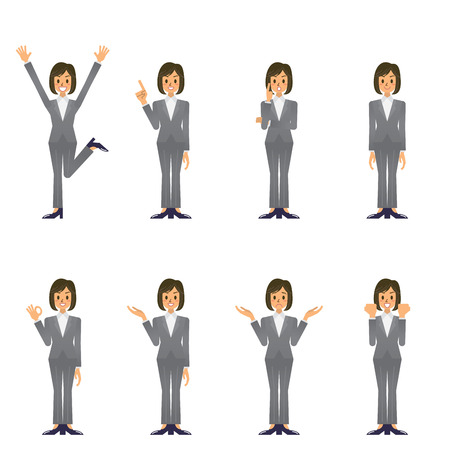 asian adult: business woman Illustration