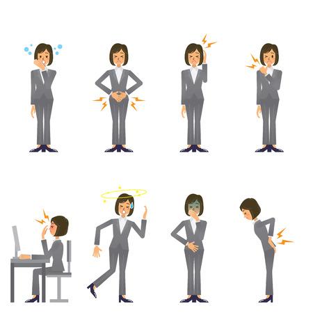lumbago: business woman Illustration
