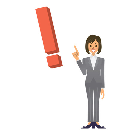 realize: business woman Illustration