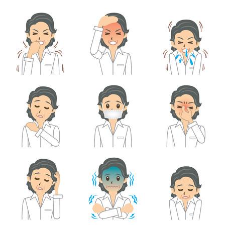 woman headache: grandma