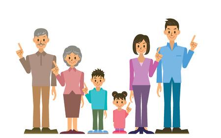 stumble: family Illustration