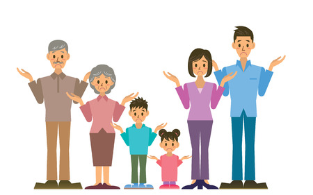 asian: family Illustration