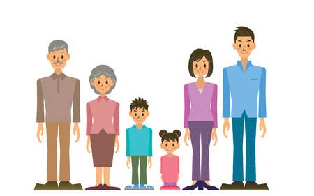 old family: family Illustration