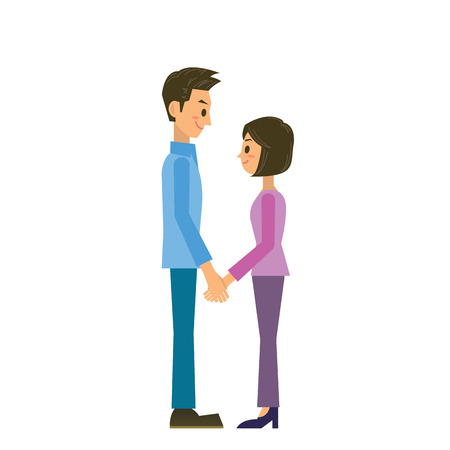asian couple: couple Illustration