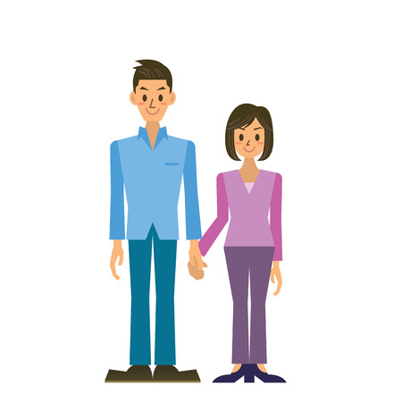 asian family: couple Illustration