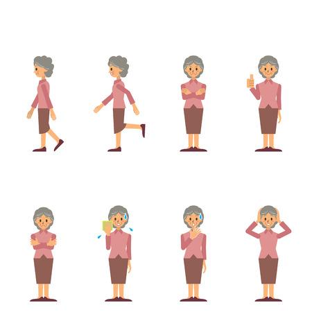 おばあちゃん  イラスト・ベクター素材