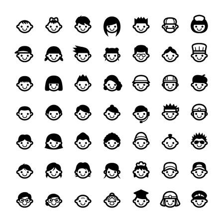 얼굴 아이콘 스톡 콘텐츠 - 37361089