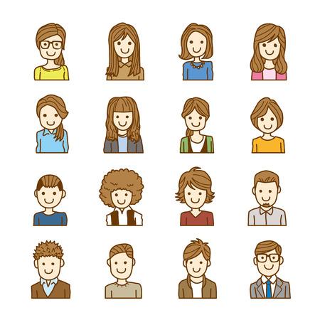 people face  イラスト・ベクター素材
