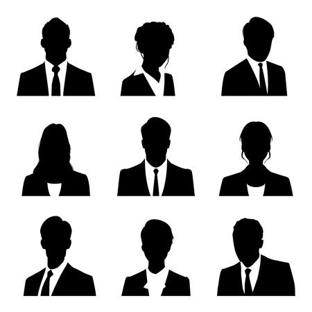 siluetas de mujeres: gente de negocios