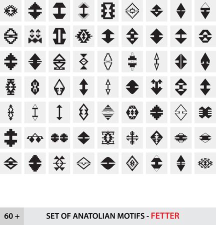 Set of Anatolian Turkish Motifs - Fetter Illustration