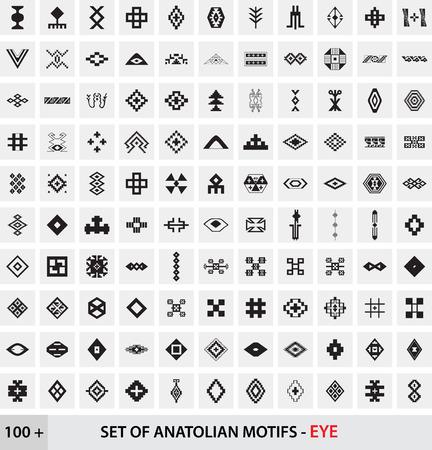 anatolian: Set of Anatolian Turkish Motifs - Eye Illustration