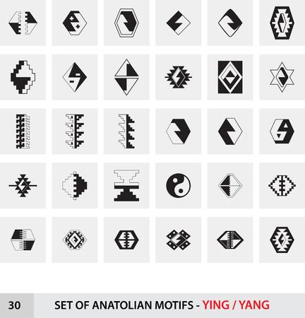 anatolian: Set of Anatolian Turkish Motifs - Ying Yang