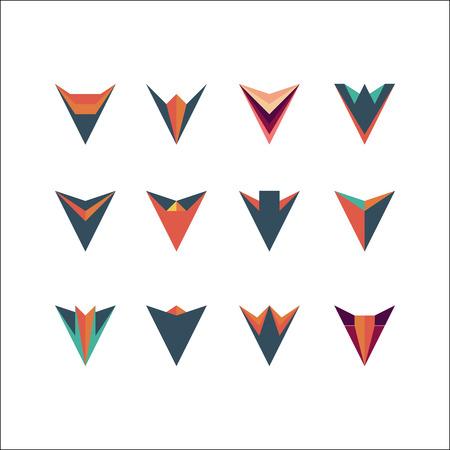 arrowheads: Vector arrow icon set, Arrowheads. Design elements.