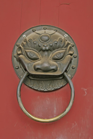 red door: Red door knocker