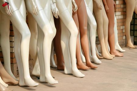 extremity: Plastic mannequins Stock Photo