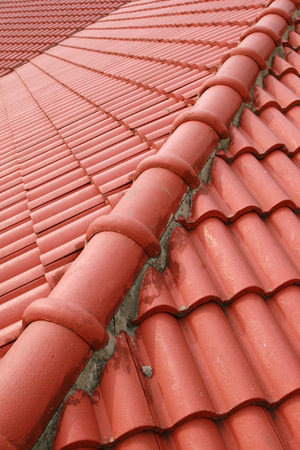 watts: Red Roof Stock Photo