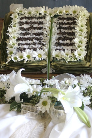 white flowers arranged in the form of a book
