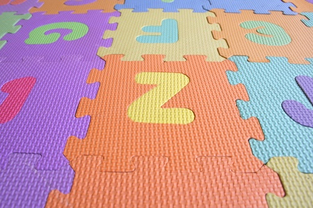 Colourfull Alphabetical letter foam mat Stock Photo