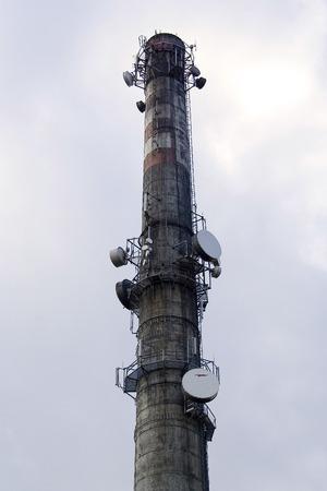 smokestack: Detailed concrete smokestack