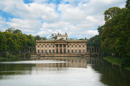 The Lazienki Palace on the Water, Warsaw, Poland
