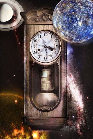 Passing of time. Elements of this image furnished by NASA. photo